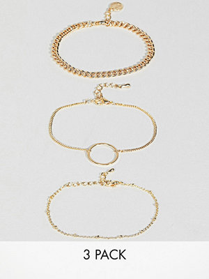 ASOS armband Limited Edition Pack of 3 Mixed Chain Bracelets