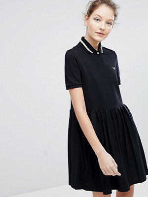 Fred Perry Pleated Hem Pique Polo Dress