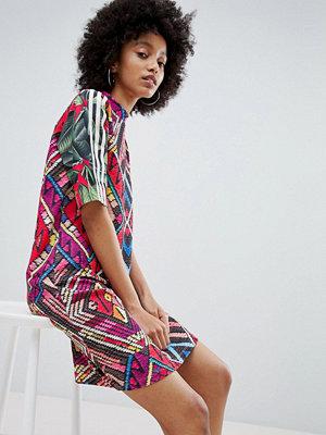 Adidas Originals X Farm Multi Print High Neck Dress