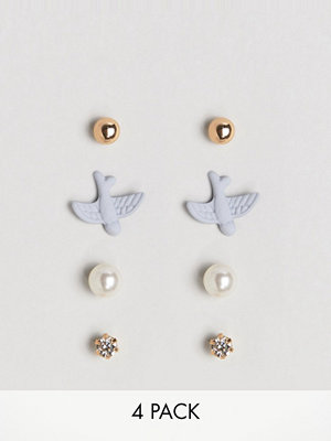 ASOS örhängen Limited Edition Pack of 4 Mixed Earrings