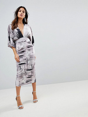 ASOS Kimono Dress in Abstract Print