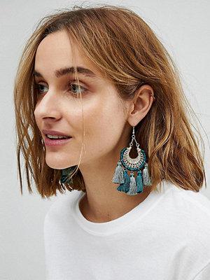 Reclaimed Vintage örhängen Inspired Tassel Boho Drop Earrings ()