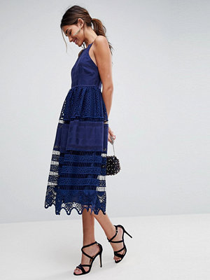 ASOS PREMIUM Broderie Lace Midi Dress