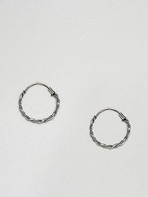 Reclaimed Vintage örhängen Inspired Sterling Silver Twist Hoop Earring ()