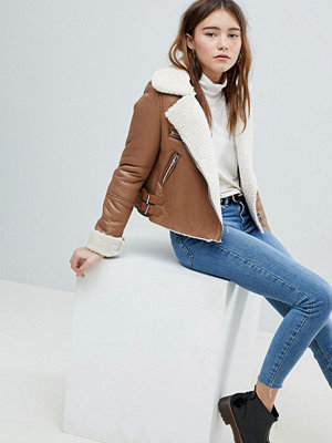 Bershka Cropped Aviator Jacket
