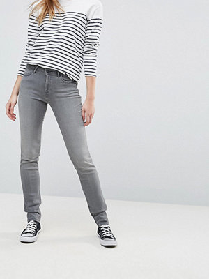 Wrangler Medelhöga jeans med smal passform Grey time