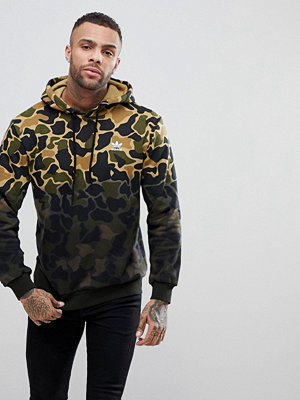 Adidas Originals Camo Hoodie In Green CE1547