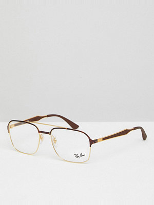 Ray-Ban 0RX7159 Wayfarer Clear Lens Glasses In Tort 50mm