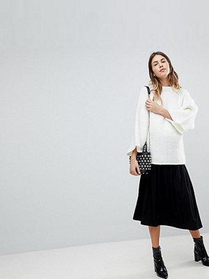 ASOS Maternity ASOS DESIGN Maternity midi skirt with box pleats