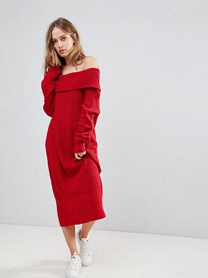 Liquorish Long Off The Shoulder Knit Dress