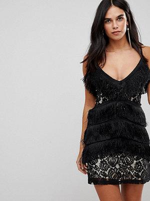 Club L Cami Tassel Lace Mini Dress