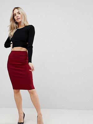 ASOS Petite High Waisted Pencil Skirt - Dark red