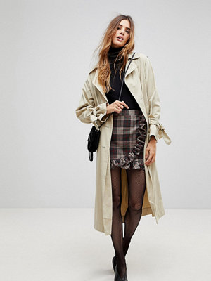 Parisian Check Mini Skirt With Ruffle Detail