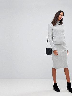 Vero Moda Knitted Tube Skirt - Light grey