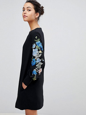 Sportmax Code Balloon Sleeve Dress with Embroidery