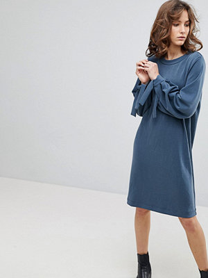 Selected Femme Sweat Dress With Tie Sleeves