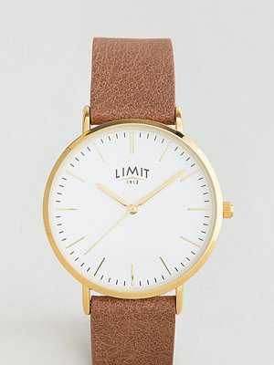 Klockor - Limit Brown Leather Watch Exclusive To ASOS