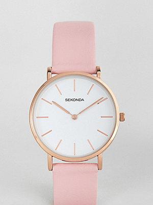Klockor - Sekonda Leather Watch In Pink Exclusive To ASOS