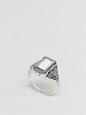 ASOS Rectangle Stone Engraved Ring