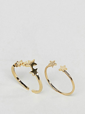 ASOS Limited Edition Pack of 2 Starstruck Rings
