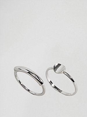 ASOS Limited Edition Pack of 2 Curved Bar and Disc Rings