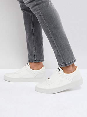 Sneakers & streetskor - Diesel White Elasticated Front Leather Trainers