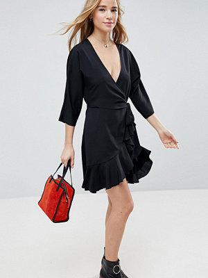 ASOS Wrap Front Mini Frill Dress