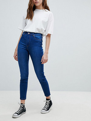 Bershka Skinny High Waist Jean - Dark blue