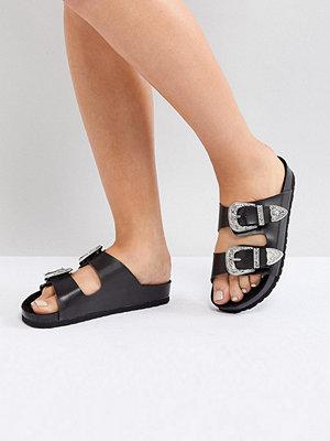 Sandaler & sandaletter - ASOS FRANCO Wide Fit Western Sliders