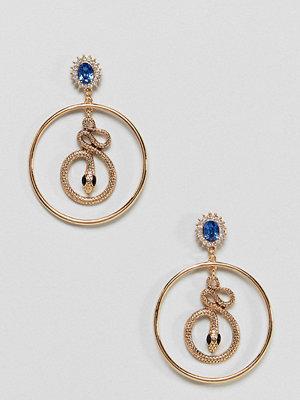 Liars & Lovers örhängen Gold Snake Statement Hoop Earrings