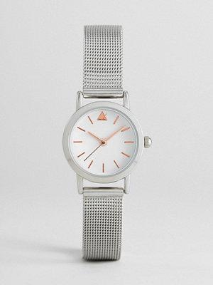 ASOS Curve Mini Silver Mesh Watch