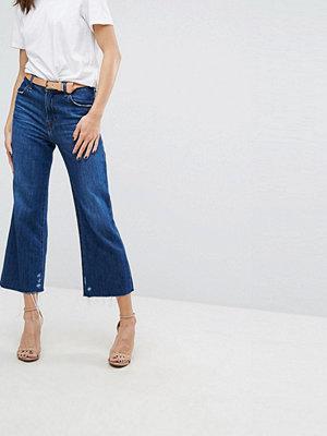 J Brand Joan Crop Jeans med hög midja och vida ben Double take blue