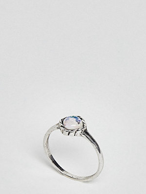 ASOS Curve Mermaid Square Stone Pinky Ring