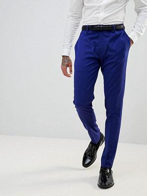 Byxor - ASOS WEDDING Super Skinny Smart Trousers In Bright Blue