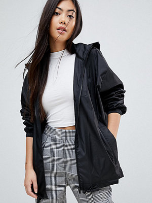 ASOS Petite ASOS DESIGN Petite rain jacket with bum bag