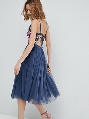 Needle & Thread Cami Strap Midi Dress with Open Back