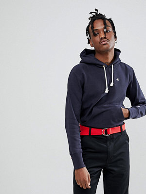 Street & luvtröjor - Champion Hoodie With Small Logo In Navy
