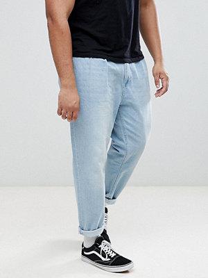 Jeans - ASOS PLUS Double Pleat Jeans In Light Wash Blue