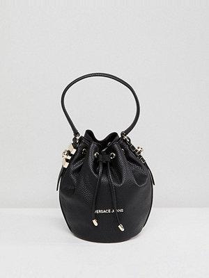 Versace axelväska Jeans Mini Bucket Bag with Gold Studding