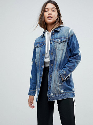 Noisy May Distressed Denim Jacket
