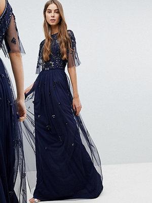 Amelia Rose Tall Embellished Top Cap Sleeve Maxi Dress