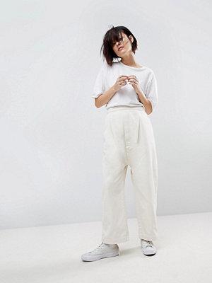 ASOS White Jeans med låg gren
