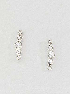 Liars & Lovers örhängen Sterling Silver Rhinestone Bar Stud Earrings