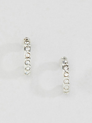 Liars & Lovers örhängen Silver Plated Rhinestone Mini Hoop Earrings