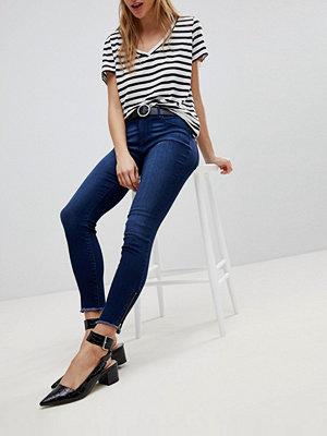 Jdy Jeans med dragkedja vid vristen Mörkblå denim