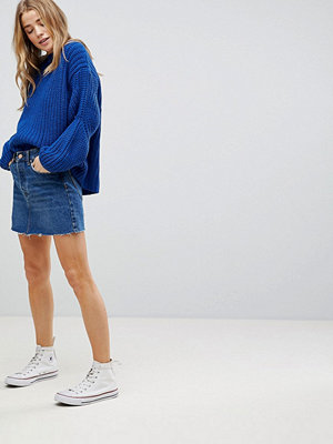 Bershka Denim Skirt - Mid blue