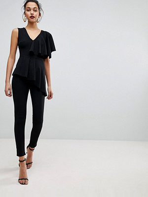 Club L Frill Tiered Sleeve Jumpsuit