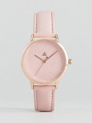 Klockor - ASOS Debossed Marker Pink Tonal Watch