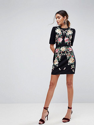 ASOS PREMIUM Embroidered Mini Dress With Open Back