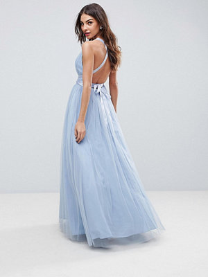 ASOS PREMIUM Tulle Maxi Prom Dress With Ribbon Ties